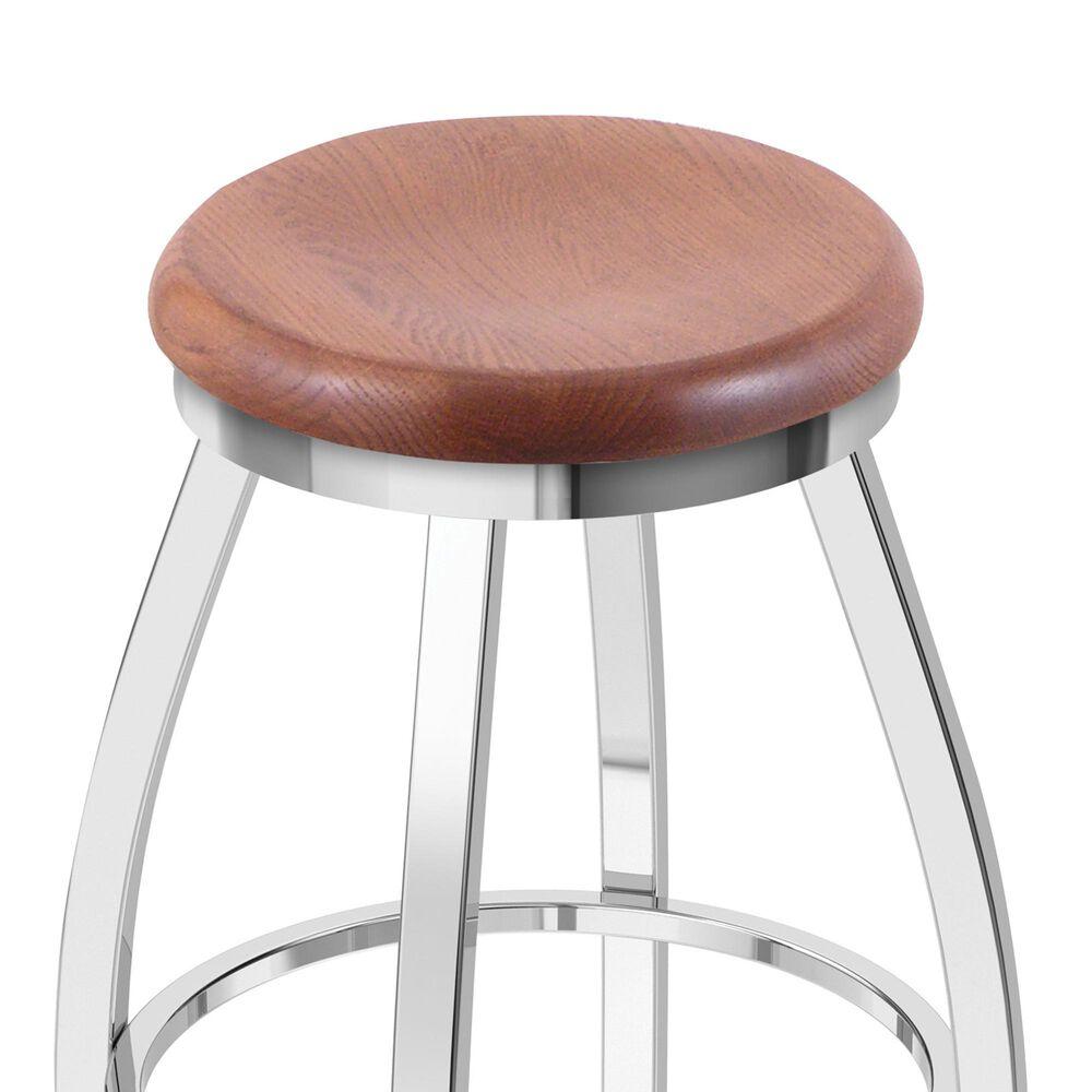 "Holland Bar Stool 802 Misha 25"" Swivel Counter Stool with Chrome and Medium Oak Seat, , large"