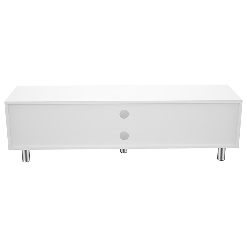 """AVF Group Omaha 59"""" Flat TV Stand in White and Walnut, , large"""