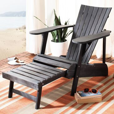 Safavieh Merlin Adirondack Chair with Footrest in Ash Grey, , large
