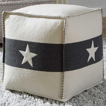 Signature Design by Ashley Leonardo Pouf in White and Black, , large