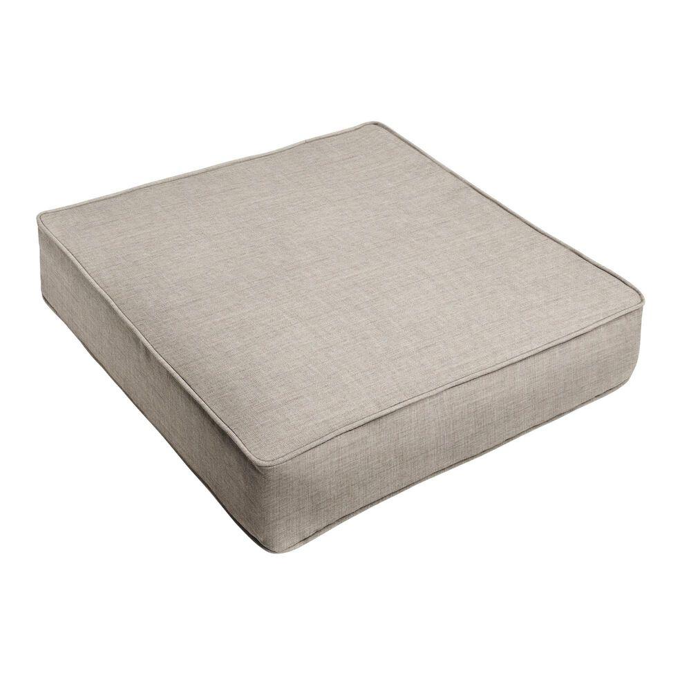 "Sorra Home Sunbrella 22.5"" Deep Seating Cushion in Cast Silver, , large"