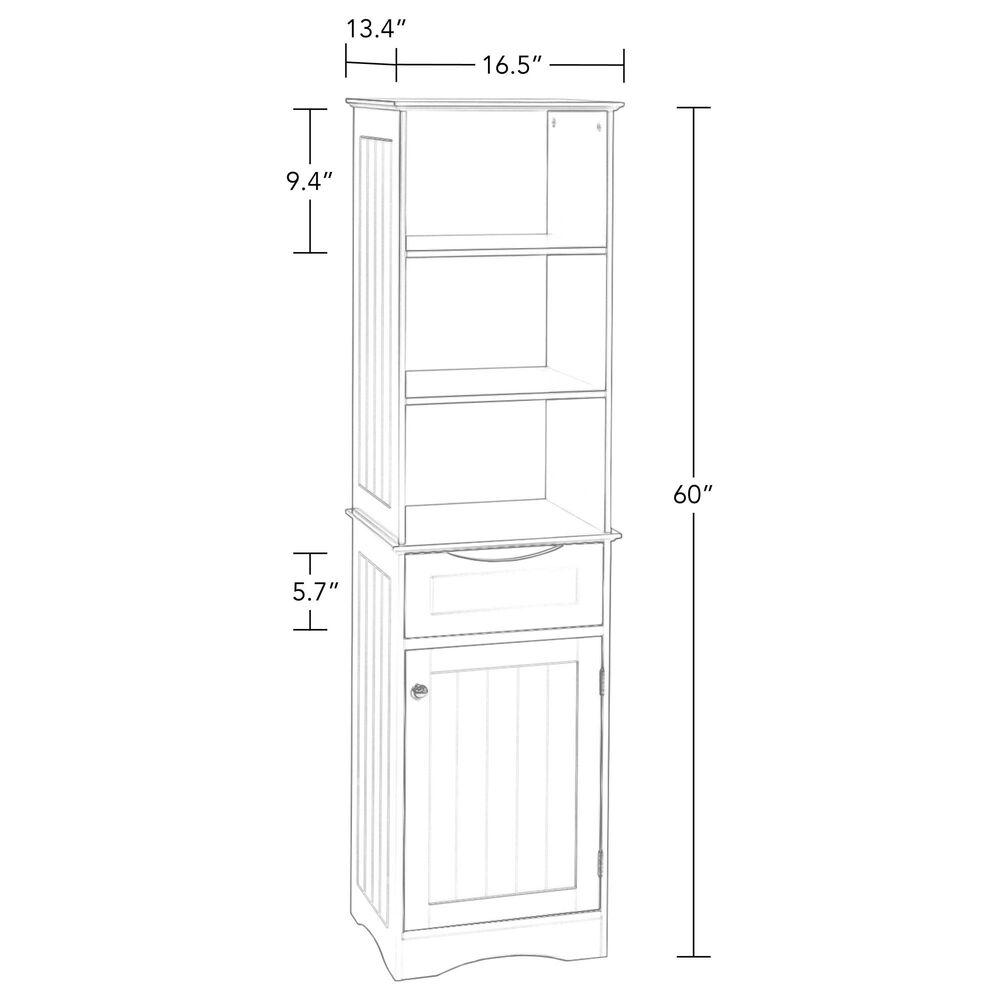 RiverRidge Home Ashland Tall Cabinet in Espresso, , large