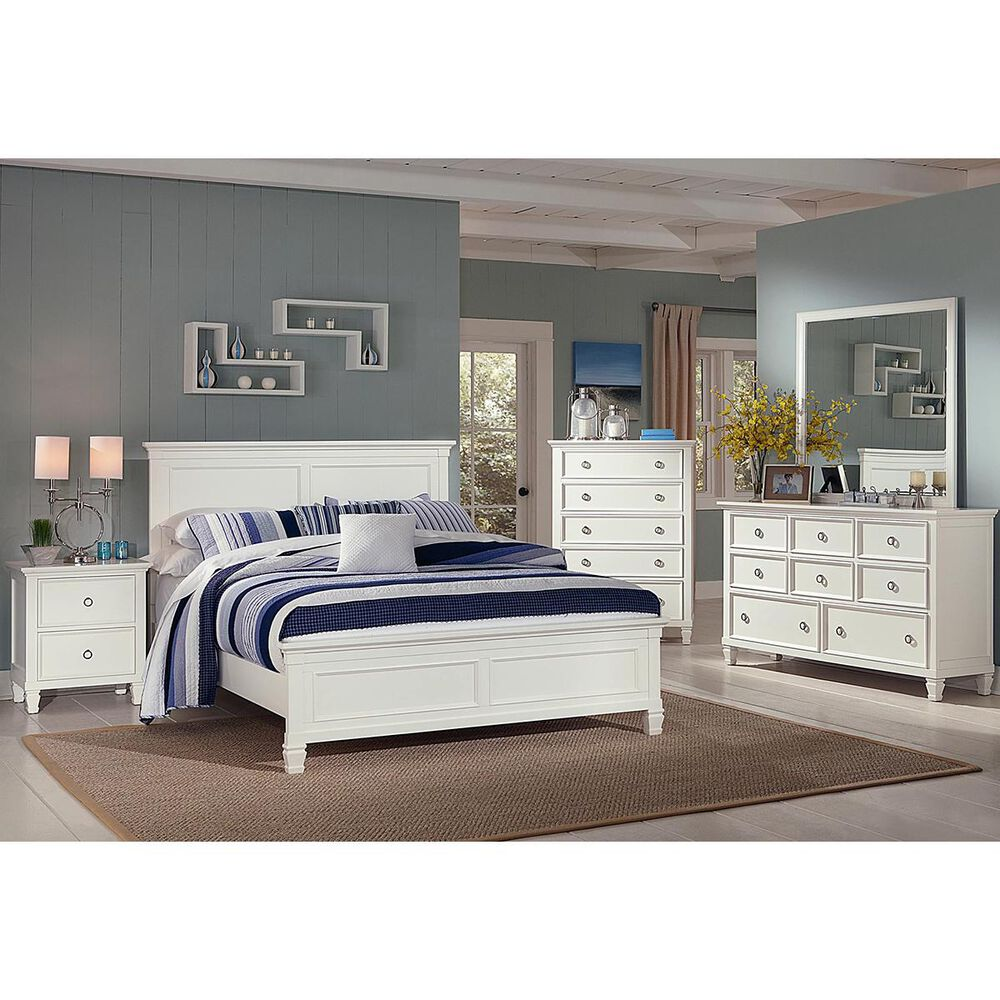 New Heritage Design Tamarack Twin Panel Bed in White, , large