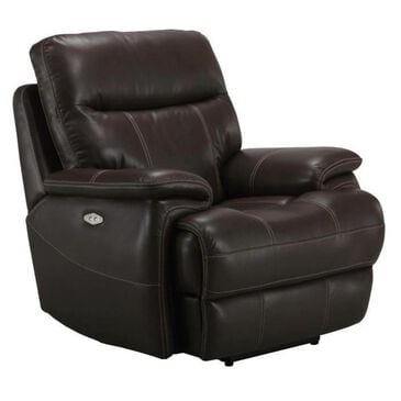 Simeon Collection Dylan Recliner with Power Headrest in Mahogany, , large