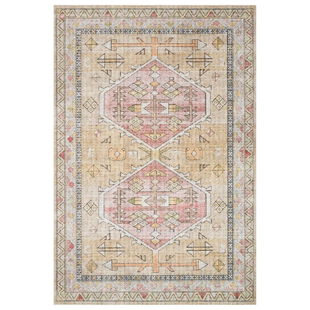 """Loloi II Skye SKY-04 2'3"""" x 3'9"""" Gold and Blush Scatter Rug, , large"""