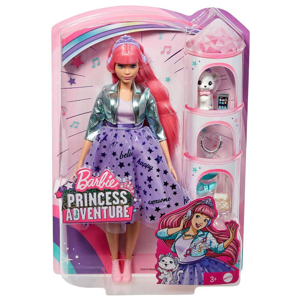 Mattel Barbie Princess Adventure Daisy Doll Pink Hair, , large