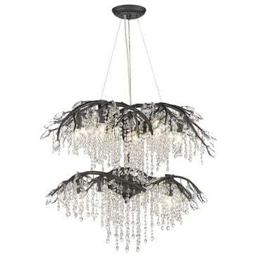 Golden Lighting Autumn Twilight 18-Light Chandelier in Black Iron, , large