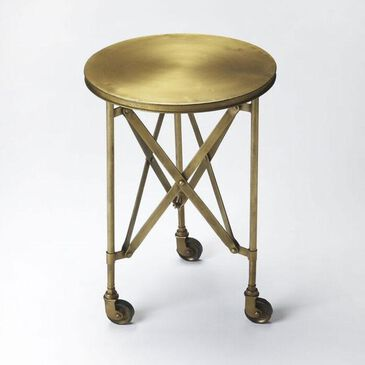 Butler Industrial Chic Costigan Accent Table in Antique Gold, , large