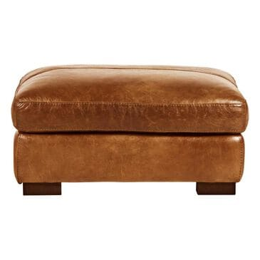 Softline Leather Ottoman in Splendor Chestnut, , large