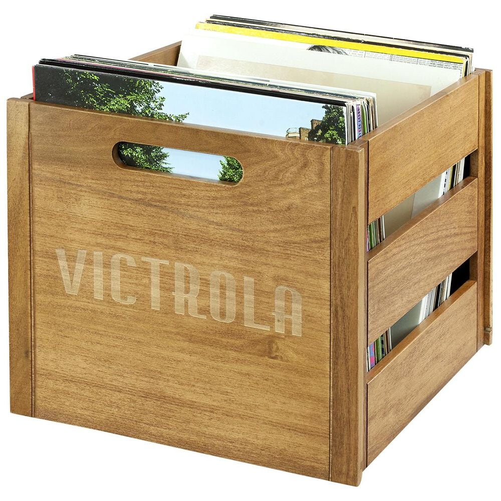 Victrola Wooden Record and Vinyl Crate, , large
