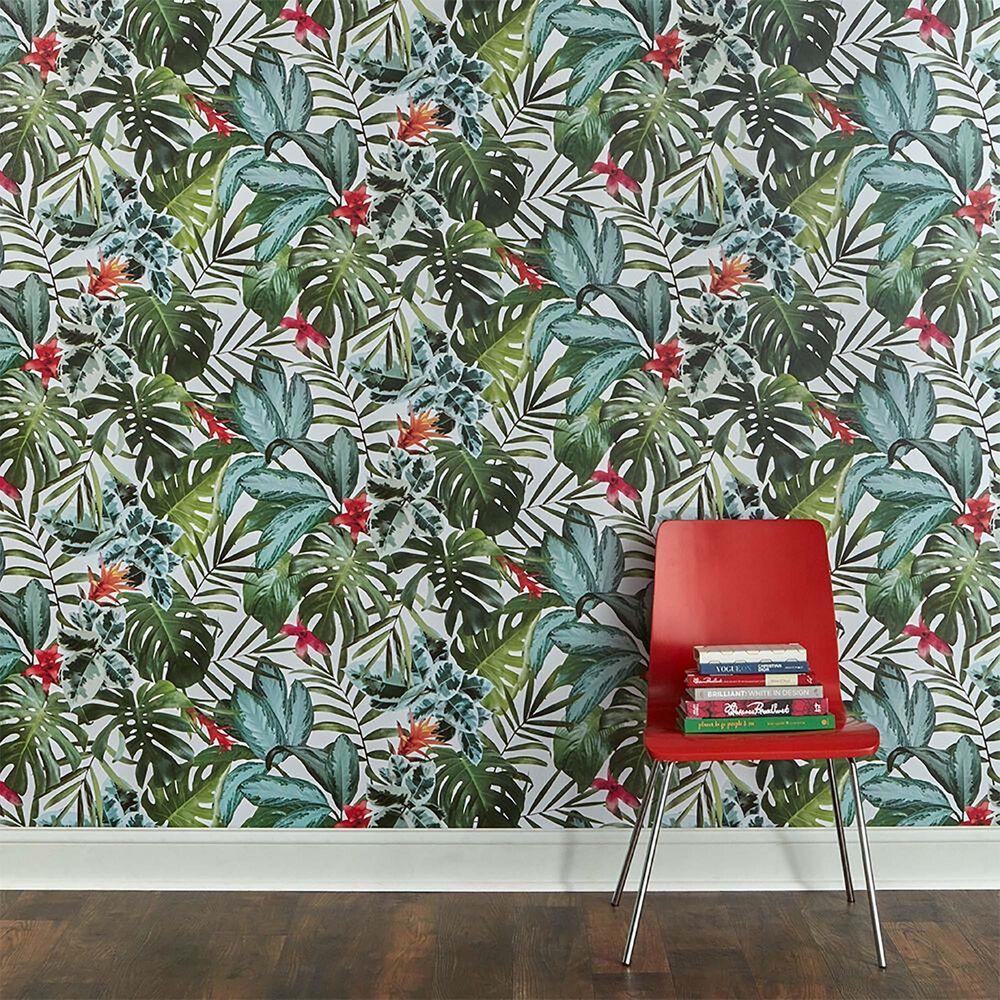 Tempaper Rainforest Peel and Stick Wallpaper, , large