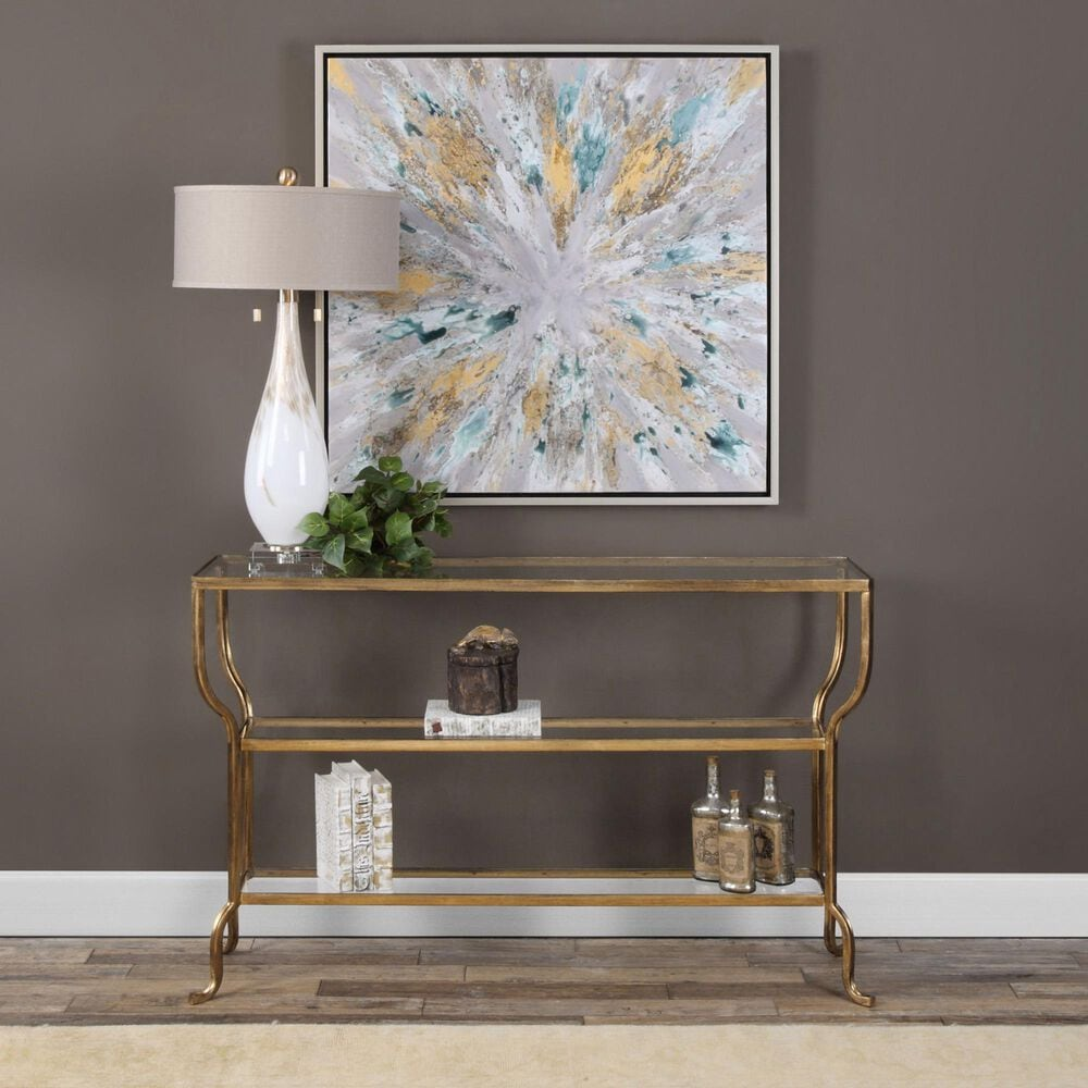 Uttermost Deline Console Table in Bronze, , large