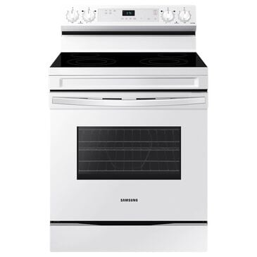 Samsung 6.3 Cu. Ft. Freestanding Electric Range with 4 Burners in White, , large
