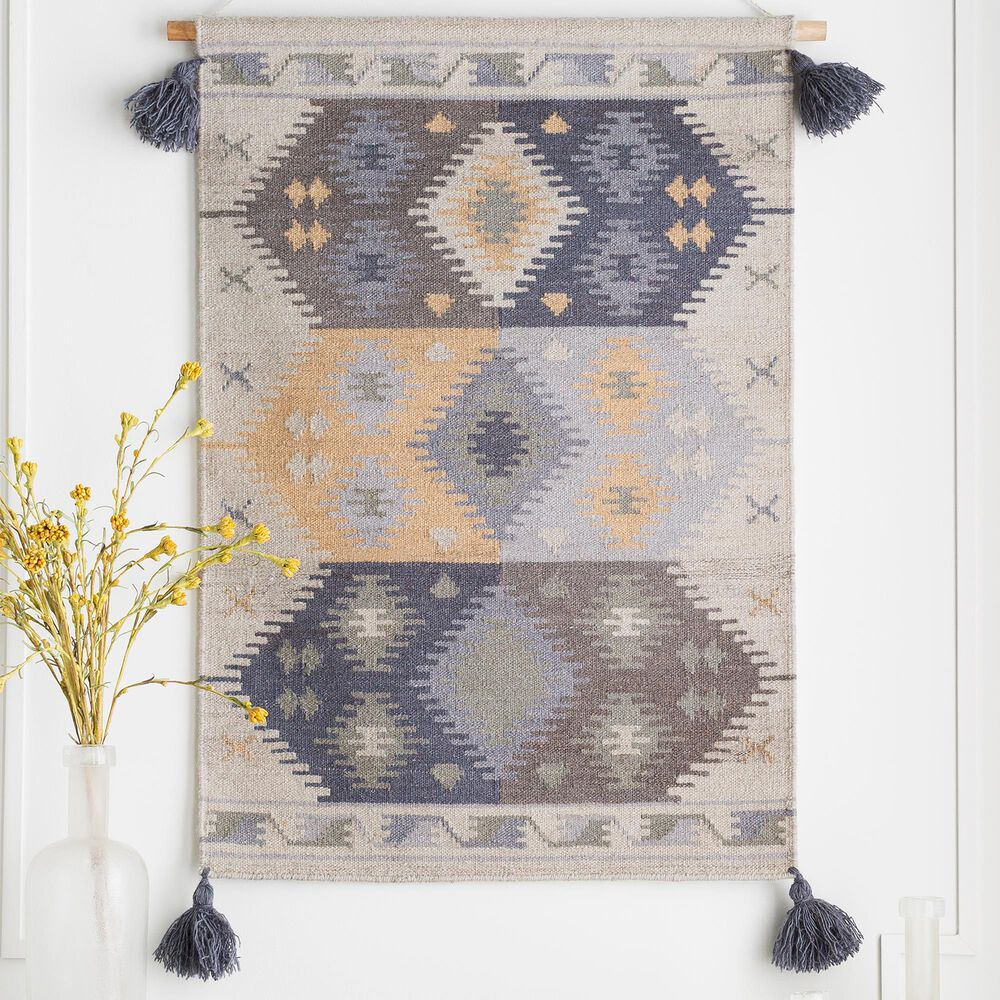 Surya Inc Adia Wall Hanging in Beige/Charcoal/Gray, , large
