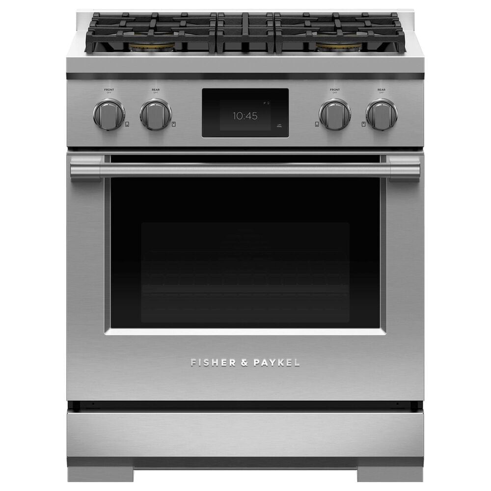 """Fisher and Paykel 30"""" Professional Dual Fuel Range with Natural Gas in Stainless Steel, , large"""