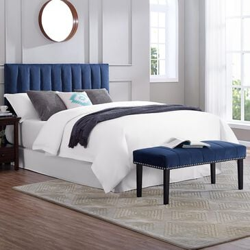 Accentric Approach Full/Queen Headboard & Bench in Blue, , large