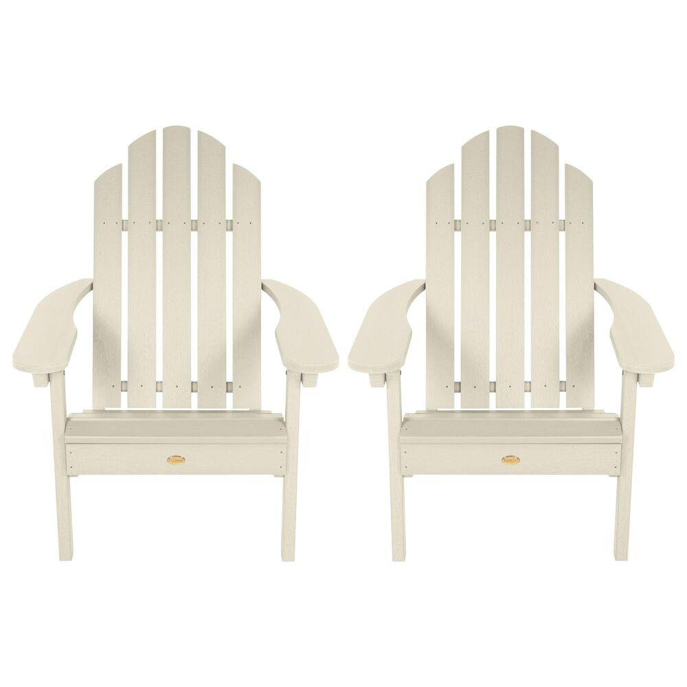 Highwood USA Classic Westport Adirondack Chair in Whitewash (Set of 2), , large