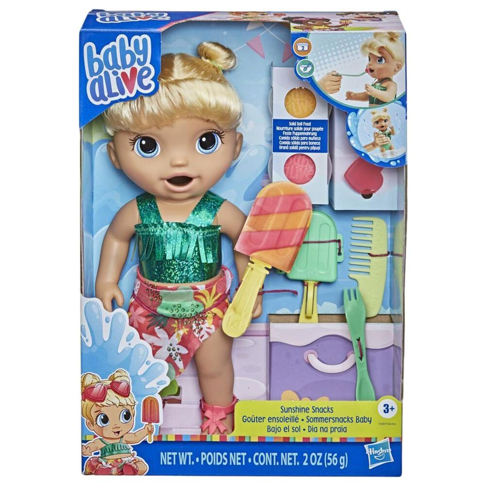 Baby Alive  Sunshine Snacks Doll in Blonde Hair, , large