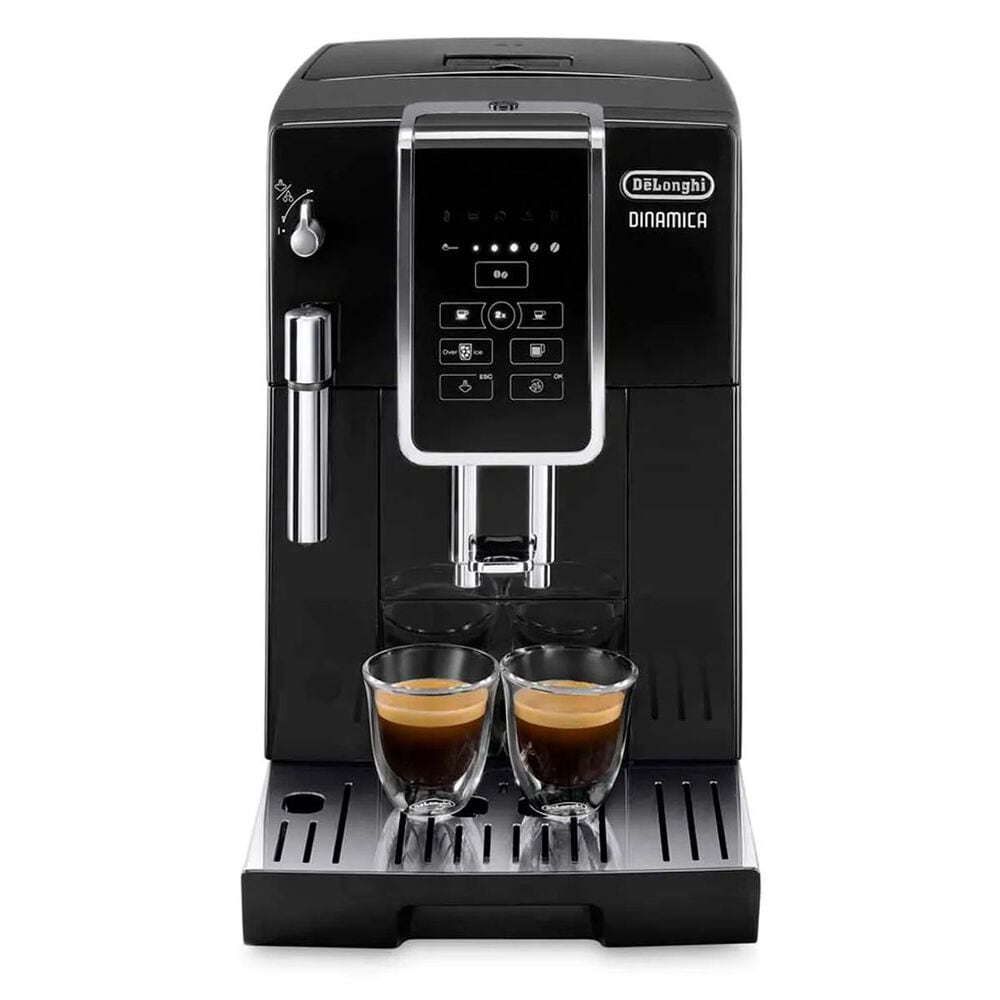 Delonghi Dinamica Automatic Coffee & Espresso Machine with Iced Coffee, TrueBrew Over Ice in Black, , large