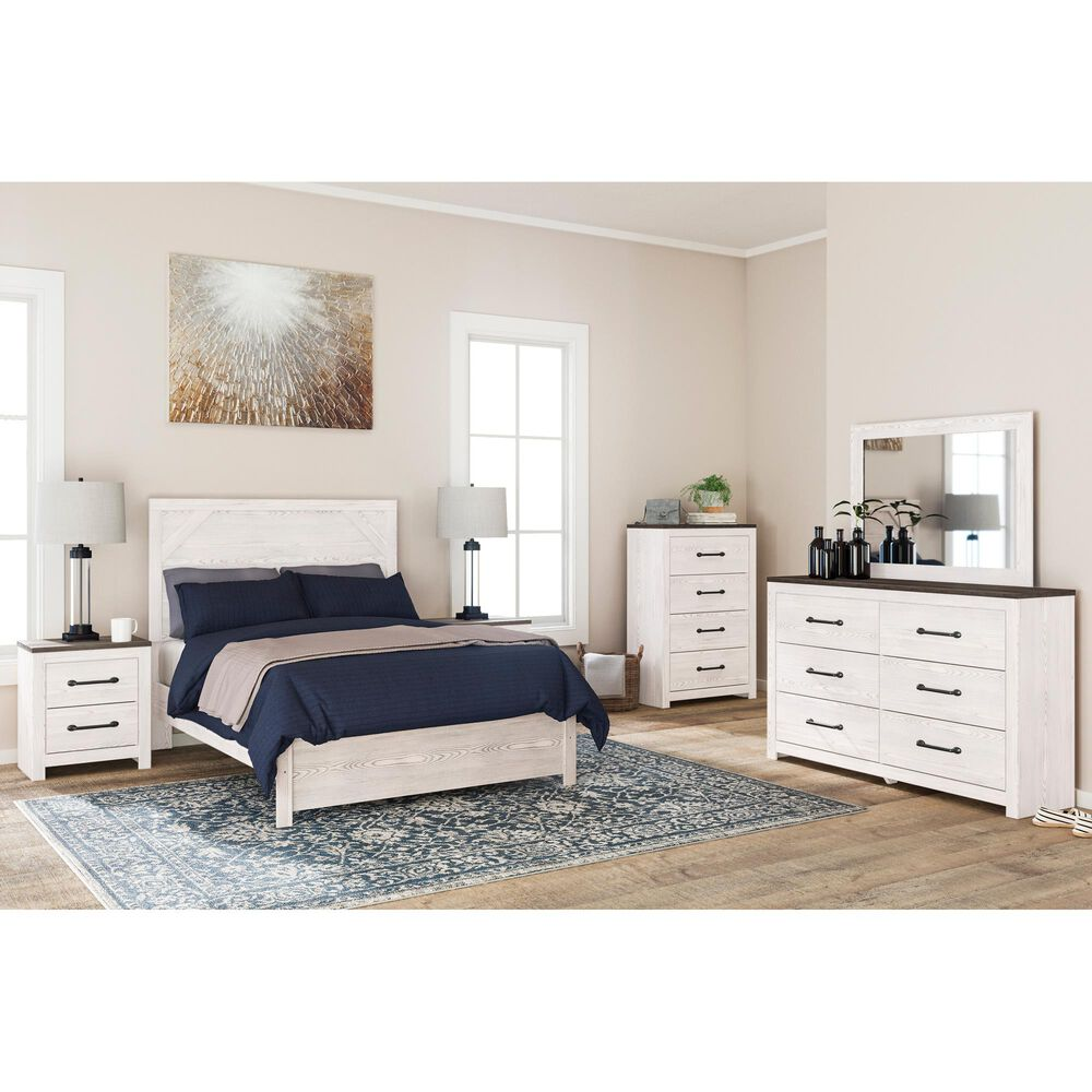 Signature Design by Ashley Gerridan Full Panel Bed in White, , large
