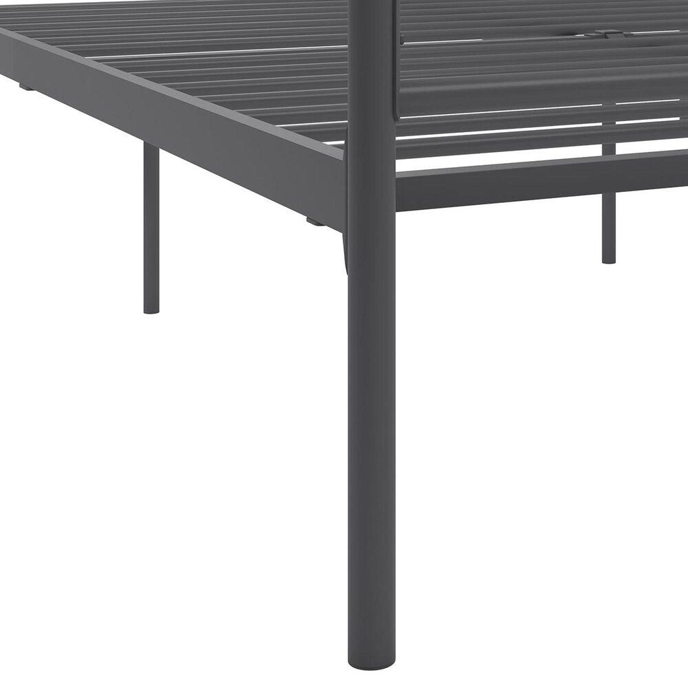 Novogratz Marion Queen Canopy Bed in Dark Gray, , large