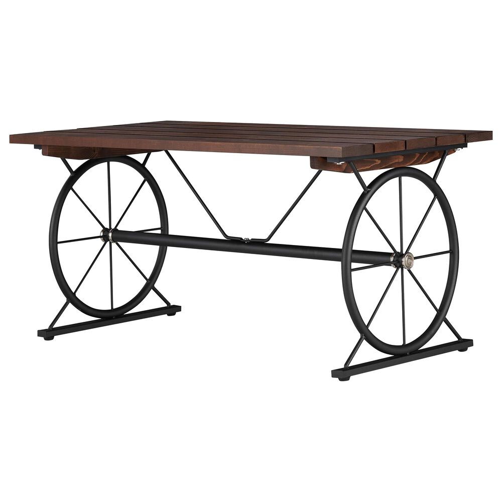 Furniture of America Cameron Coffee Table in Toasted Barnwood, , large