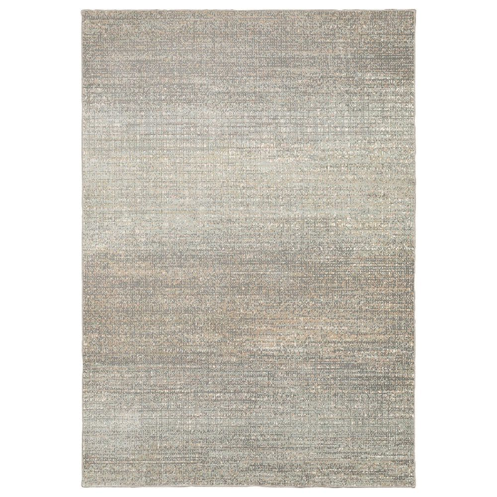 """Oriental Weavers Capistrano Distressed 524A1 7""""10"""" x 10""""10"""" Gray Area Rug, , large"""