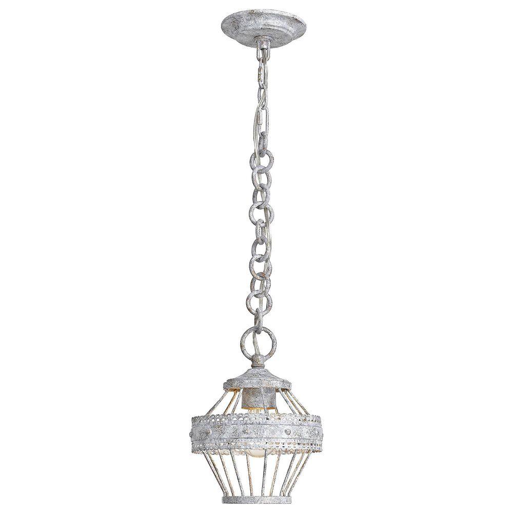 Golden Lighting Ferris Mini Pendant in Oyster, , large
