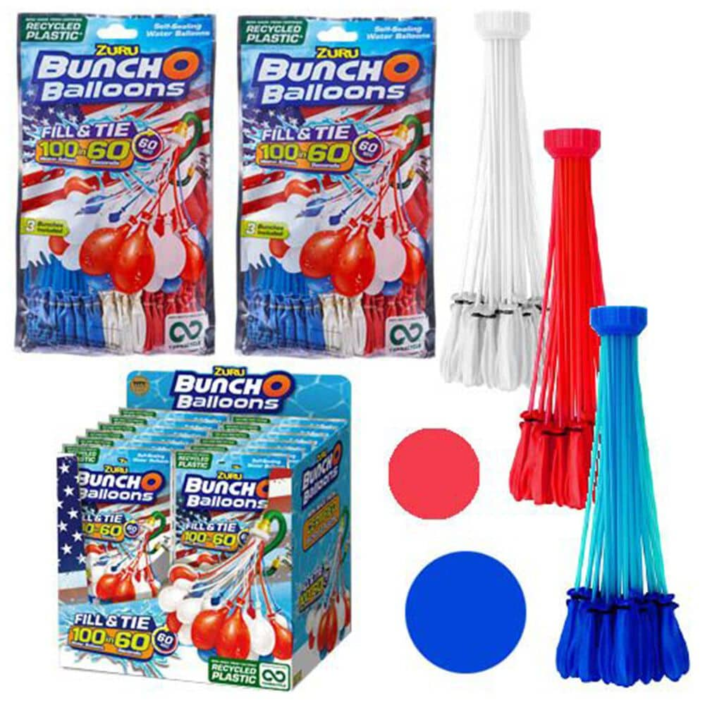 Upd Inc. Bunch O Balloons 3 Pack Rapid Fill in Red, White and Blue, , large