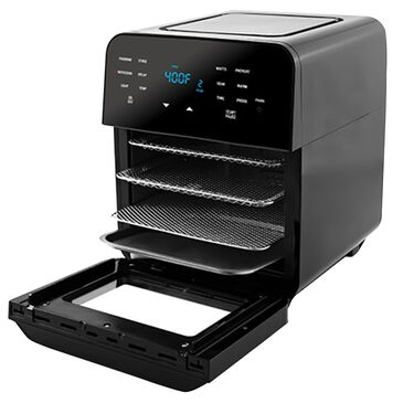 Englewood Brio 14 Quart Digital Air Fryer with Probe in Black, , large
