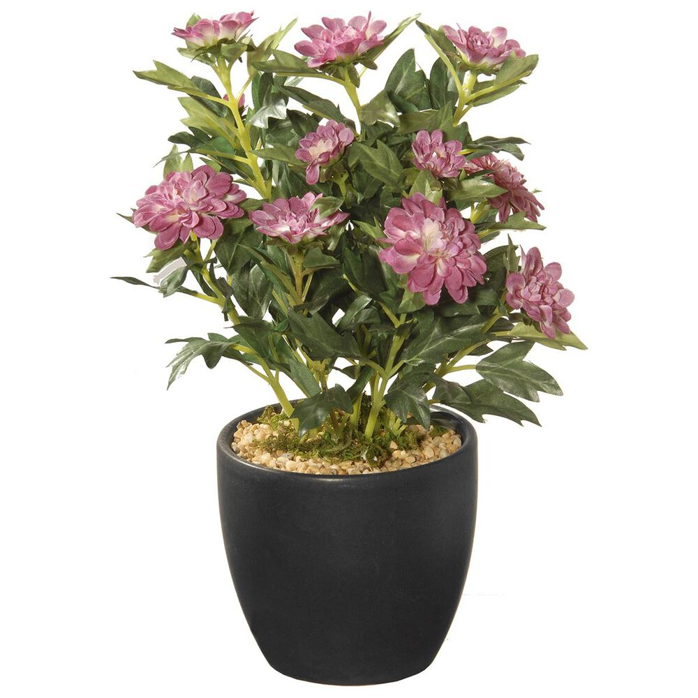 """National Tree 11"""" Zinna with in Ceramic Pot, , large"""