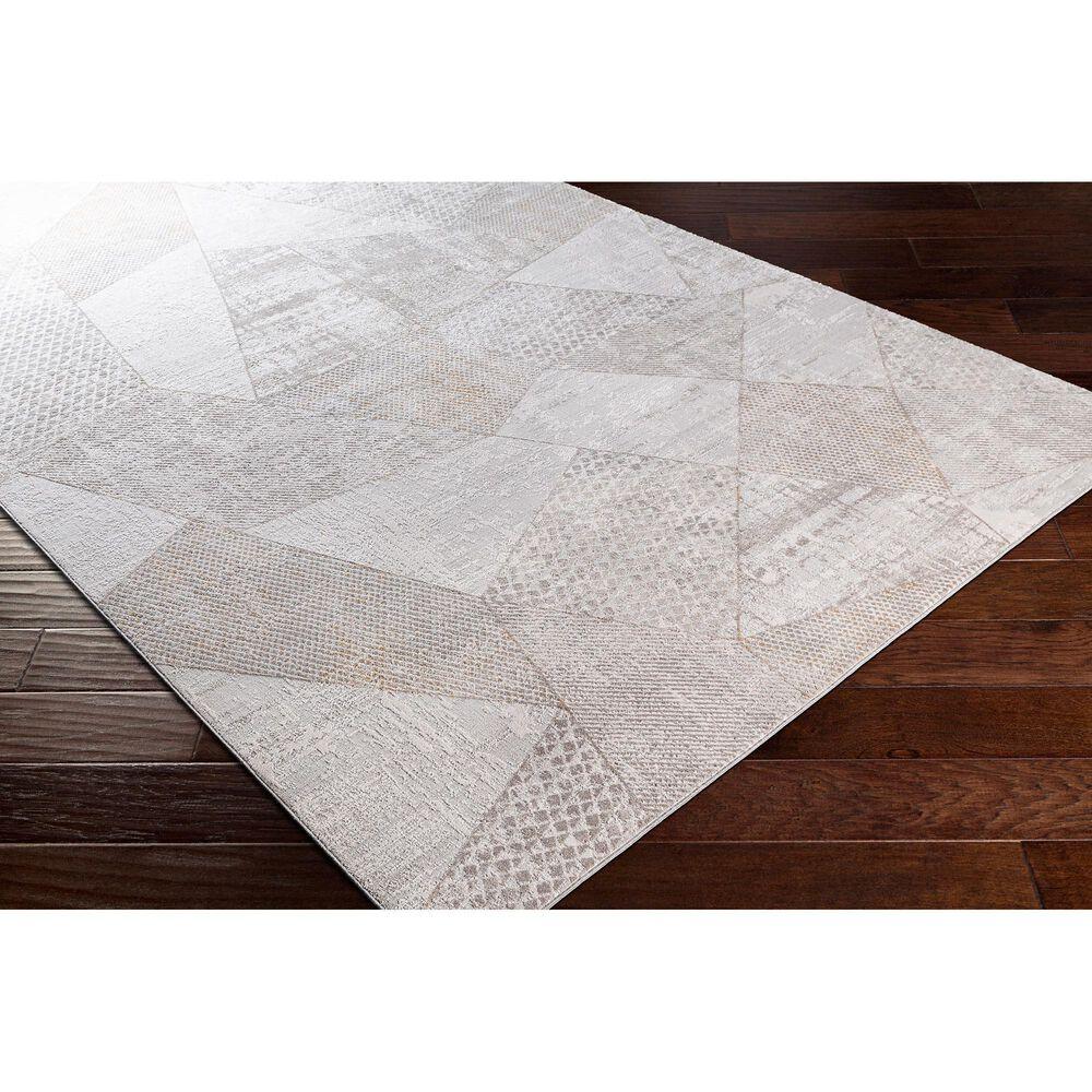 "Surya Carmel 6'7"" x 9'6"" White, Ivory, Gray and Taupe Area Rug, , large"