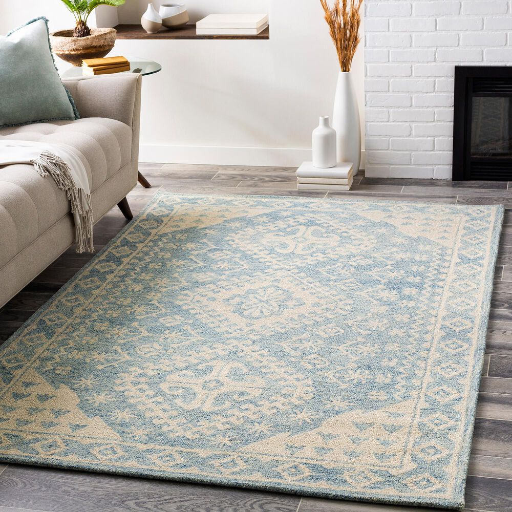 """Surya Granada GND-2320 5' x 7'6"""" Pale Blue, Beige and Sky Blue Area Rug, , large"""