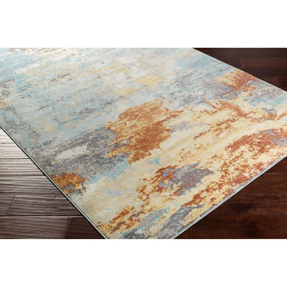 "Surya Bodrum 6' x 9'11"" Orange, Gray and Aqua Area Rug, , large"