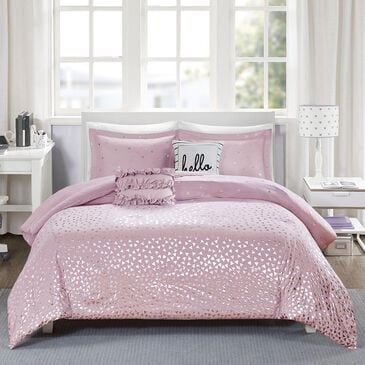 Hampton Park Zoey 4-Piece Twin/Xl Comforter Set in Purple and Silver, , large