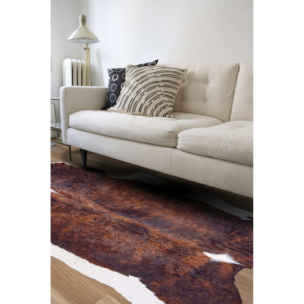 Feizy Rugs Bartlett Animal Cowhide 4' x 6' Exotic and Dark Area Rug, , large