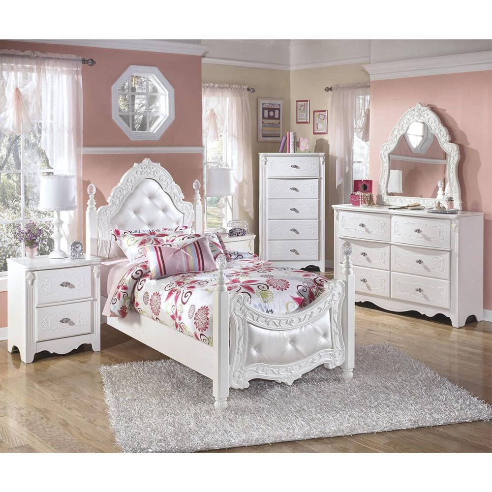 Signature Design by Ashley Exquisite 3 Piece Twin Bedroom Set in White, , large