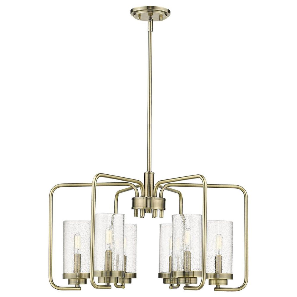 Golden Lighting Holden 6-Light Semi-Flush in Aged Brass, , large