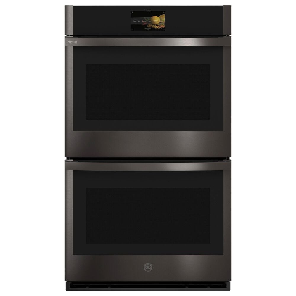 """GE Profile 36"""" Electric Cooktop with 30"""" Convection Double Wall Oven in Black Stainless Steel, , large"""
