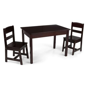 Kidkraft Rectangle Table and 2 Chair Set in Espresso, , large