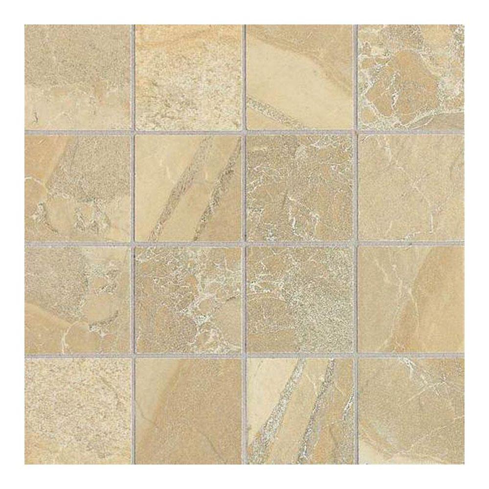 "Dal-Tile Ayers Rock Golden Ground 12"" x 12"" Porcelain Mosaic Sheet, , large"
