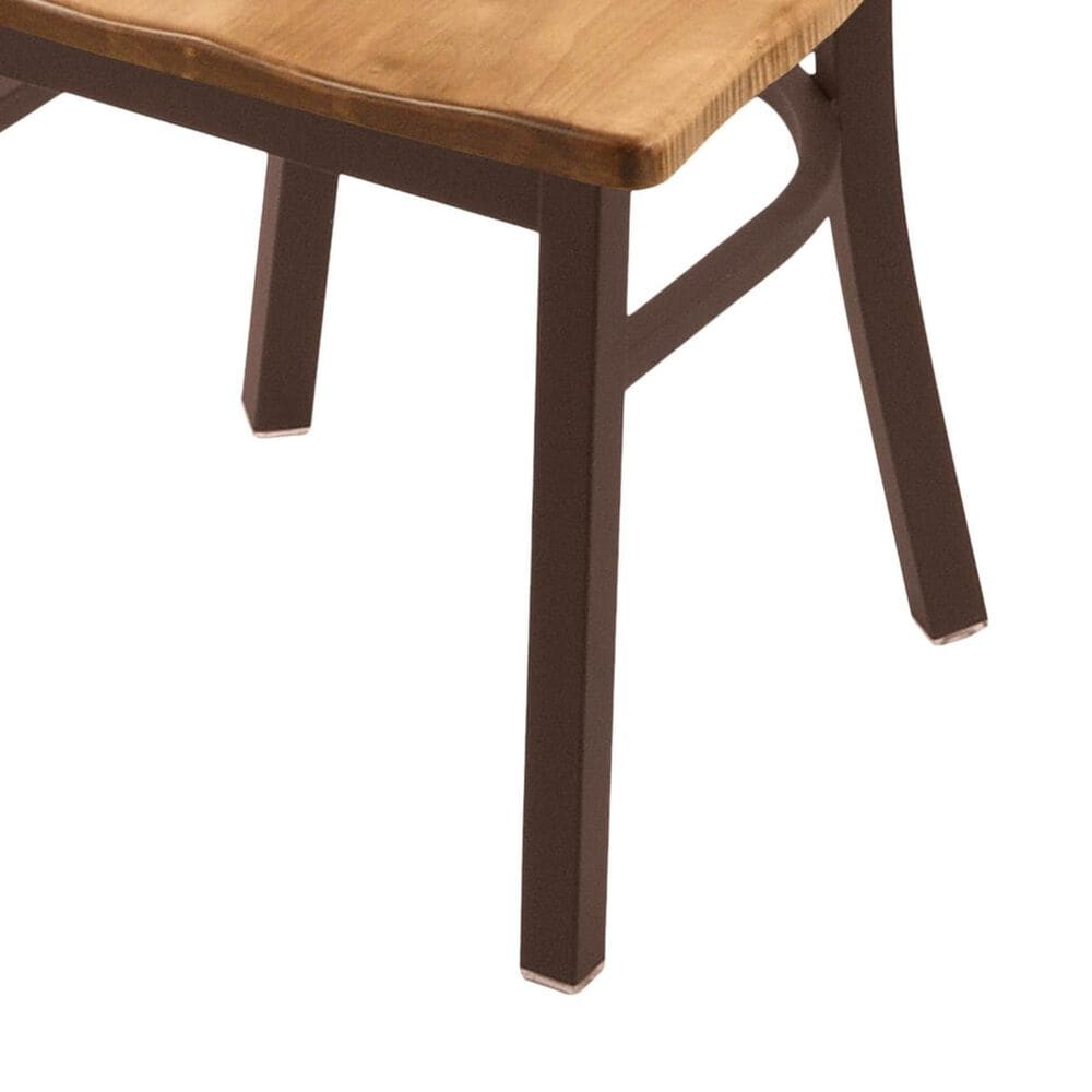 """Holland Bar Stool 620 Catalina 18"""" Chair with Bronze and Medium Maple Seat, , large"""