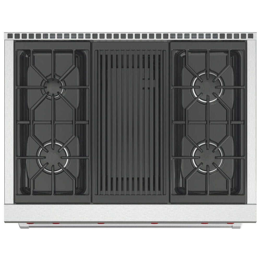"Wolf 36"" Dual Fuel 4-Burner with Grill in Stainless Steel, , large"