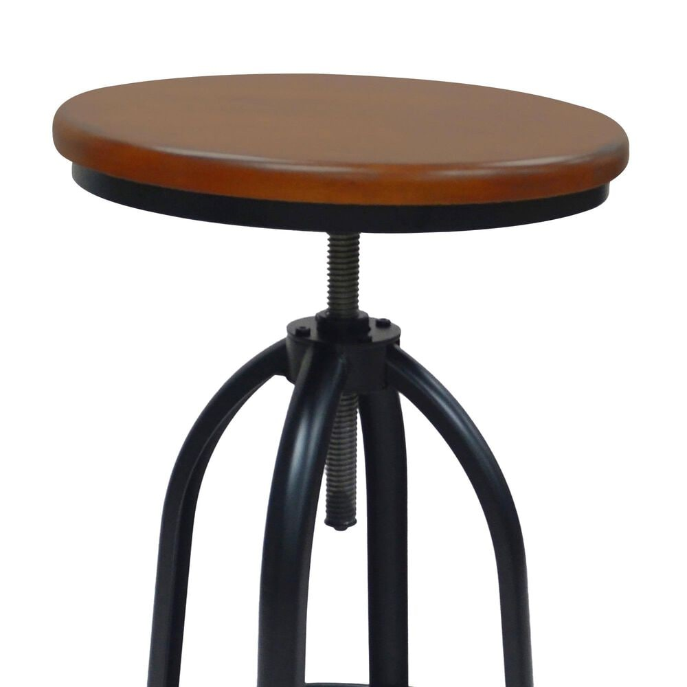 Carolina Chair and Table Ryder Adjustable Stool in Chestnut/Black, , large