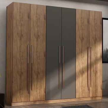 Dayton Gramercy Armoire Closet in Nature / Textured Grey, , large