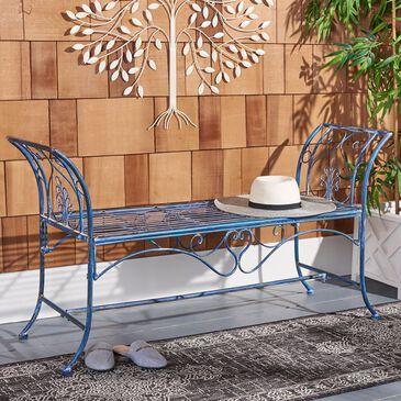 "Safavieh Adina 51.25"" Patio Bench in Antique Blue, , large"