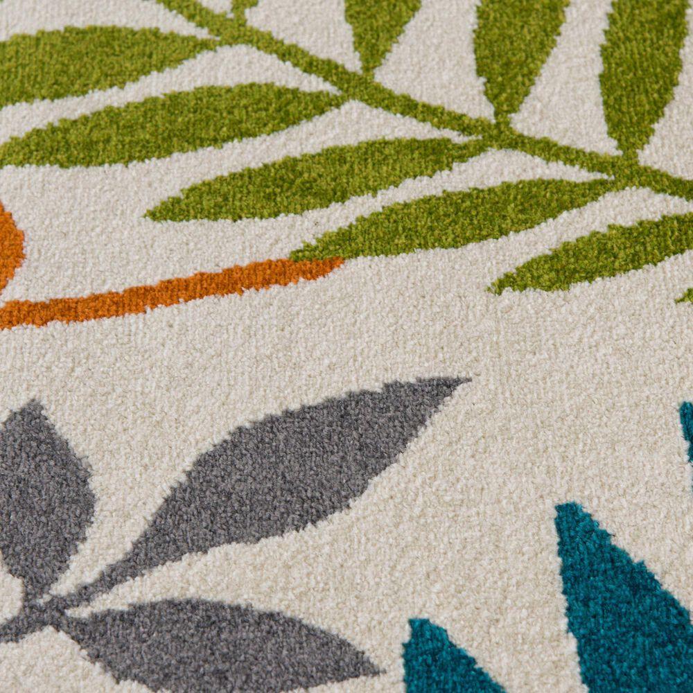 "Central Oriental Terrace Tropic Blythewood 2304NI.084 7'10"" x 9'10"" Multicolor Area Rug, , large"