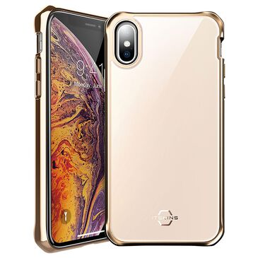 ITSkins Hybrid Glass Iridium Case For Apple Xs Max in Gold, , large