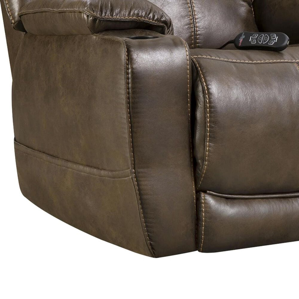 HomeStretch Starship 3-Piece Power Home Theater Recliner Set in Walnut, , large