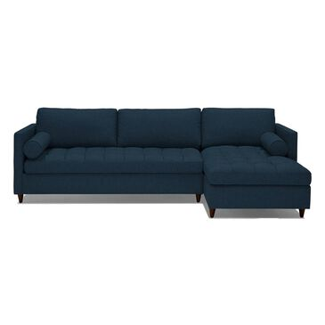 Joybird Briar 2 Piece Sleeper Sectional in Faithful Indigo, , large
